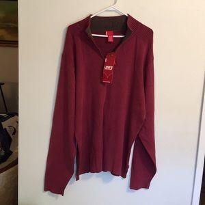 Levi sweater zipper front NWT size XXL